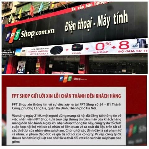 Nhân viên FPT Shop trộm dữ liệu của khách Xử lý nghiêm để làm gương