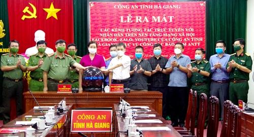 Công an Hà Giang ra mắt kênh tương tác trực tuyến với nhân dân