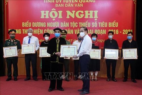 Biểu dương người dân tộc thiểu số tiêu biểu về dân vận ở Tuyên Quang
