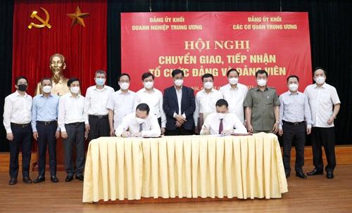 Công bố chuyển giao 3 tổ chức đảng về Khối Doanh nghiệp Trung ương