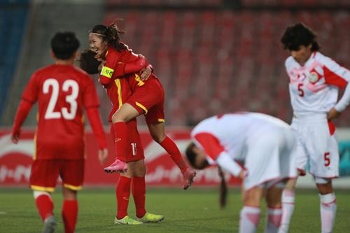 Thắng chủ nhà Tajikistan 7-0, tuyển nữ Việt Nam vào dự VCK Asian Cup 2022