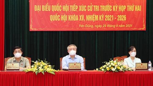 Cử tri TP Bắc Giang và huyện Yên Dũng kiến nghị nhiều vấn đề liên quan đến đất đai, môi trường