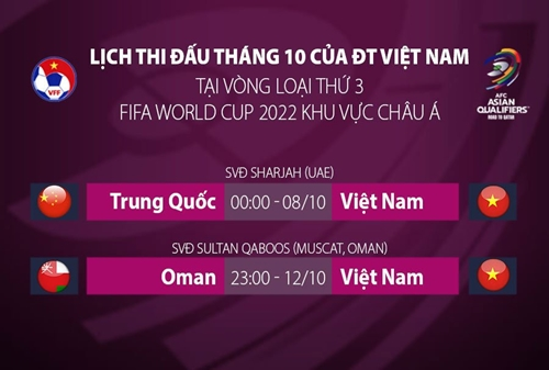 Điều chỉnh giờ thi đấu trận ĐT Việt Nam gặp ĐT Trung Quốc