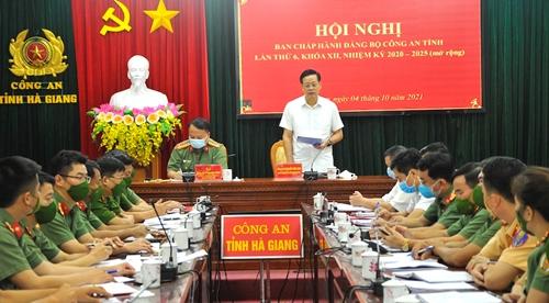 Hà Giang Tiếp tục củng cố, nâng cao năng lực lãnh đạo, sức chiến đấu của tổ chức Đảng trong lực lượng công an