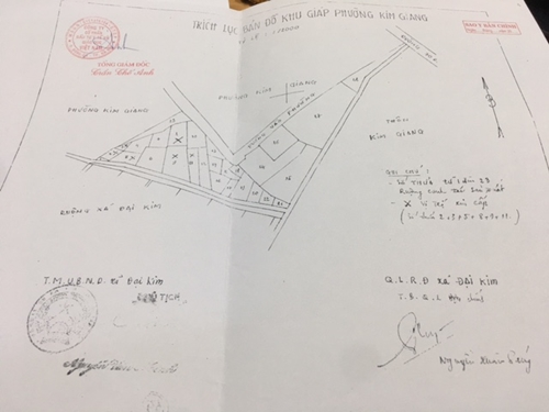 Việc mua bán đất nông nghiệp trái phép tại phường Kim Giang