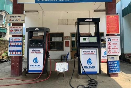 Hòa Bình Cửa hàng xăng dầu bị phạt 10 triệu đồng vì tự ý nghỉ bán hàng
