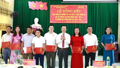 Hà Giang Trang bị trình độ cao cấp lý luận chính trị cho 144 cán bộ