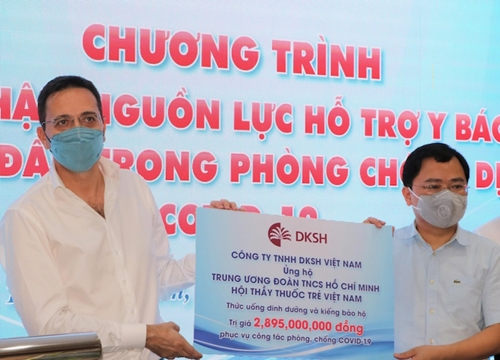 Tiếp nhận các sản phẩm hỗ trợ y, bác sĩ tuyến đầu trong phòng, chống dịch trị giá gần 2,9 tỷ đồng