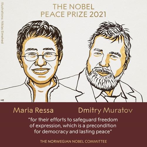 Công bố giải Nobel Hòa bình 2021