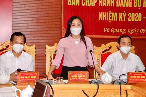 BCH Đảng bộ huyện Vũ Quang thông qua 5 nghị quyết, đề án quan trọng
