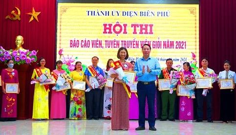 Thành ủy Điện Biên Phủ 26 thí sinh tham dự Hội thi Báo cáo viên, tuyên truyền viên giỏi năm 2021