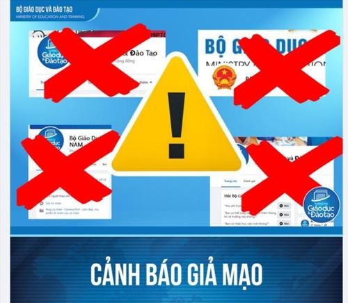 Cảnh báo tồn tại nhiều trang thông tin mạo danh Bộ GD ĐT