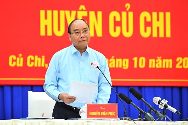 Chủ tịch nước Nguyễn Xuân Phúc Huyện Củ Chi không được để lỡ cơ hội phát triển