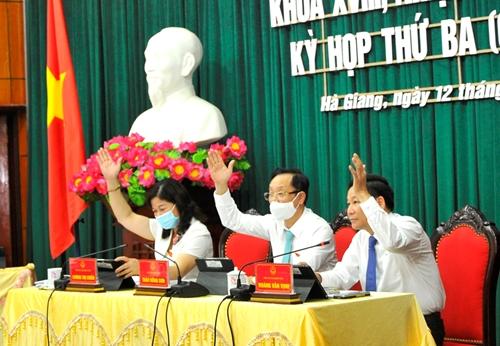Kỳ họp thứ Ba, HĐND tỉnh Hà Giang Thông qua 6 nghị quyết quan trọng