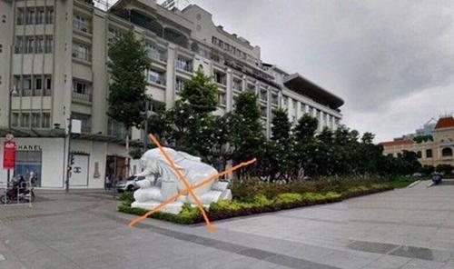 TP Hồ Chí Minh Xác minh hình ảnh tượng đá ở phố đi bộ Nguyễn Huệ bị cắt ghép
