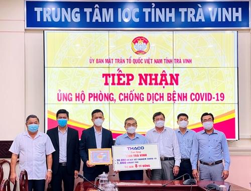 THACO trao tặng tỉnh Trà Vinh 1 000 smart tivi dùng cho việc dạy và học trực tuyến