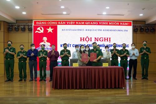 Quảng Ninh Ban Tuyên giáo Tỉnh ủy ký kết chương trình phối hợp với Bộ Chỉ huy Quân sự và Bộ Chỉ huy BĐBP
