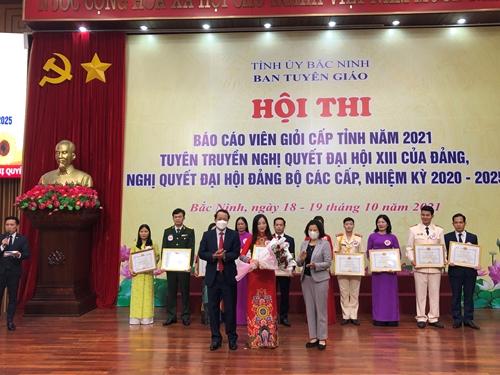 Bắc Ninh 11 thí sinh tham gia Hội thi Báo cáo viên giỏi cấp tỉnh năm 2021