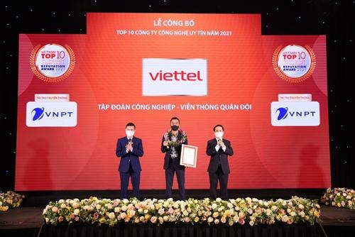 Viettel năm thứ 4 liên tiếp đứng đầu bảng xếp hạng công ty CNTT-VT uy tín Việt Nam