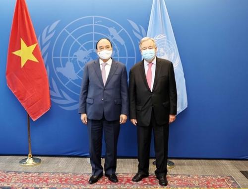 Президент встретился с Генеральным секретарем ООН и с Председателем Генеральной ассамблеи ООН