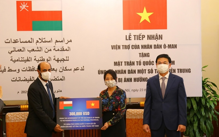 Оман оказал жителям Центрального Вьетнама финансовую помощь для ликвидации последствий наводнений
