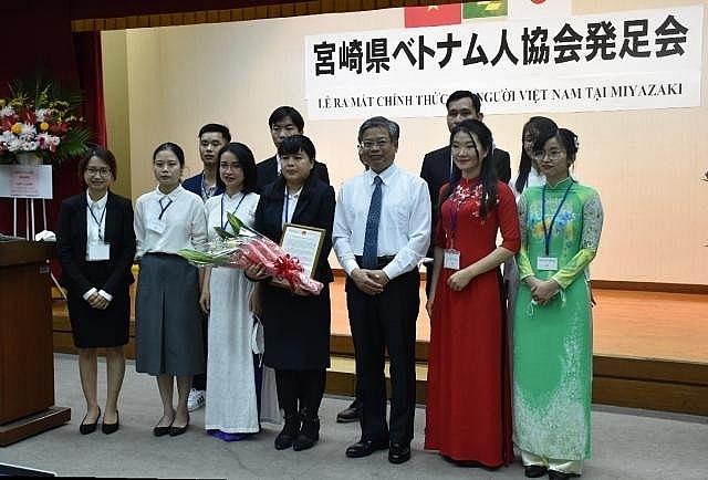 Прошла церемония открытия Общества вьетнамцев в Миядзаки