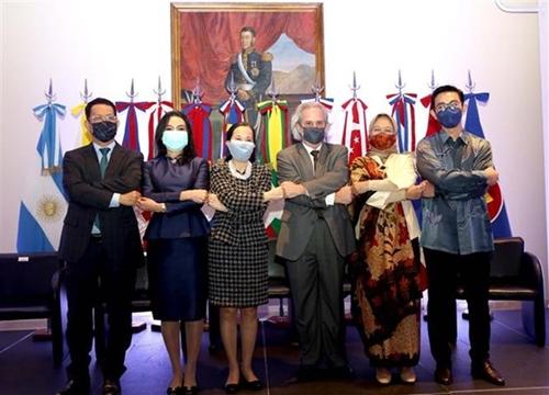 Celebración del quincuagésimo cuarto aniversario de la fundación de la ASEAN en Argentina