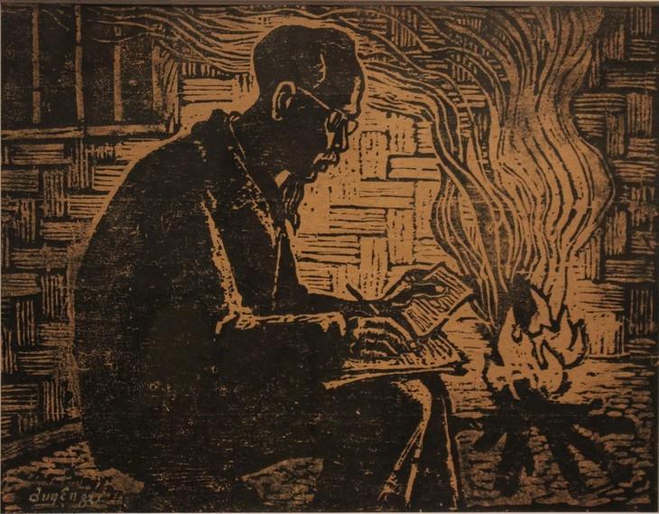 Dibujos y grabados sobre el presidente Ho Chi Minh