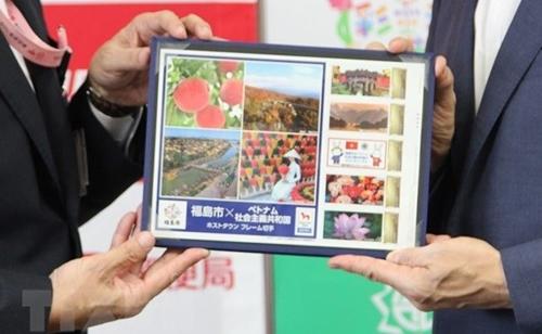 Fukushima emite sellos especiales con imágenes vietnamitas con ocasión de los Juegos Olímpicos